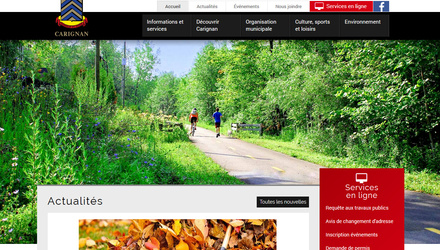 Site web de la Ville de Carignan