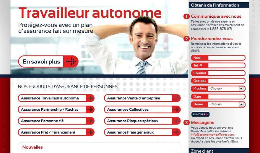 Création du site web - Assurance Vie Affaires
