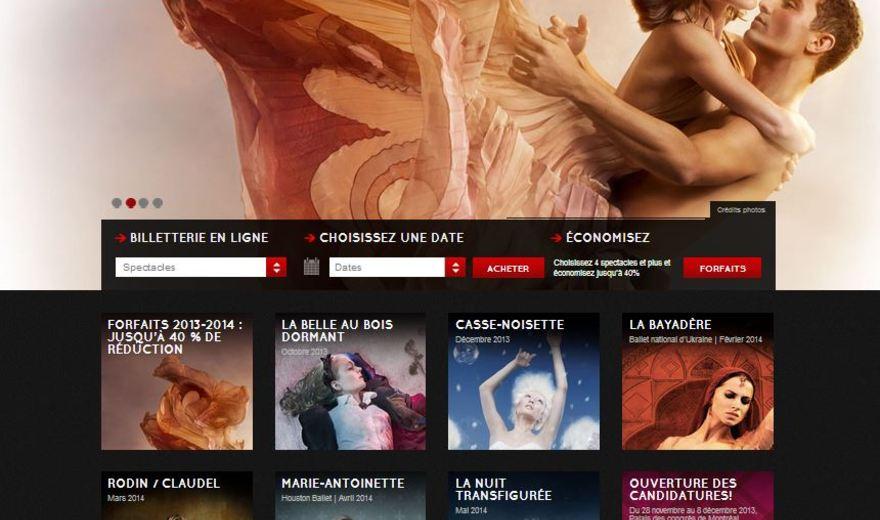 Création site web - Les Grands Ballets Canadiens