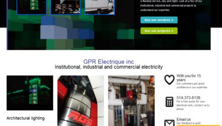 Site web de GPR Électrique