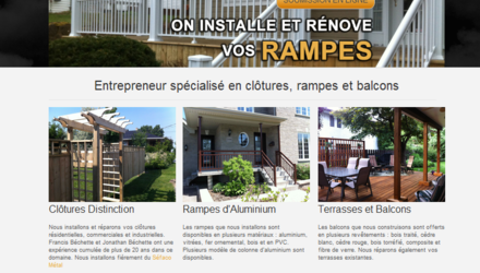 Site web de Rampes et Balcons Précision