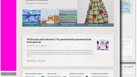 Site Web pour la boutique en ligne Artigina