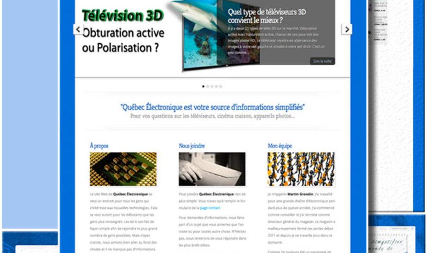 Site Web pour le blogue Québec Électronique