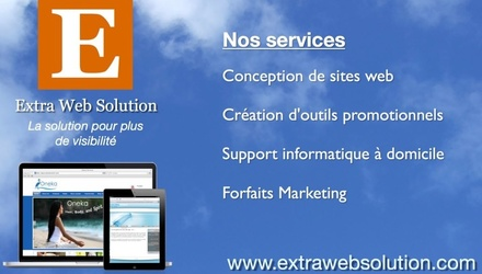 L'annonce Extra Web Solution