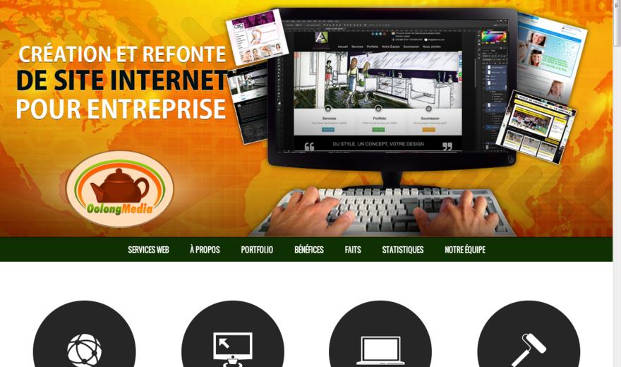 Site de l'agence de création de site web de Oolong Media