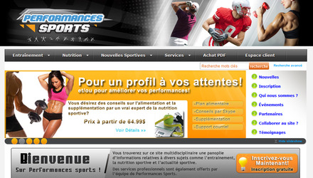 Site web sportif Performances Sports