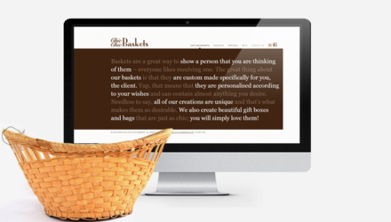 Chic Chic Baskets - site Wordpress
