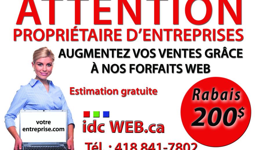 Promotion création de votre site Web