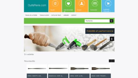 Boutique en ligne de vente d'outils pour la taille de pierre