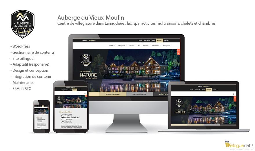 Auberge du Vieux Moulin : Site Web Magento
