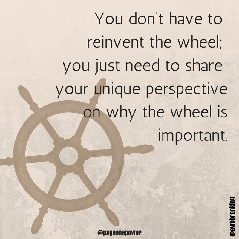 content-marketing-reinvent-wheel