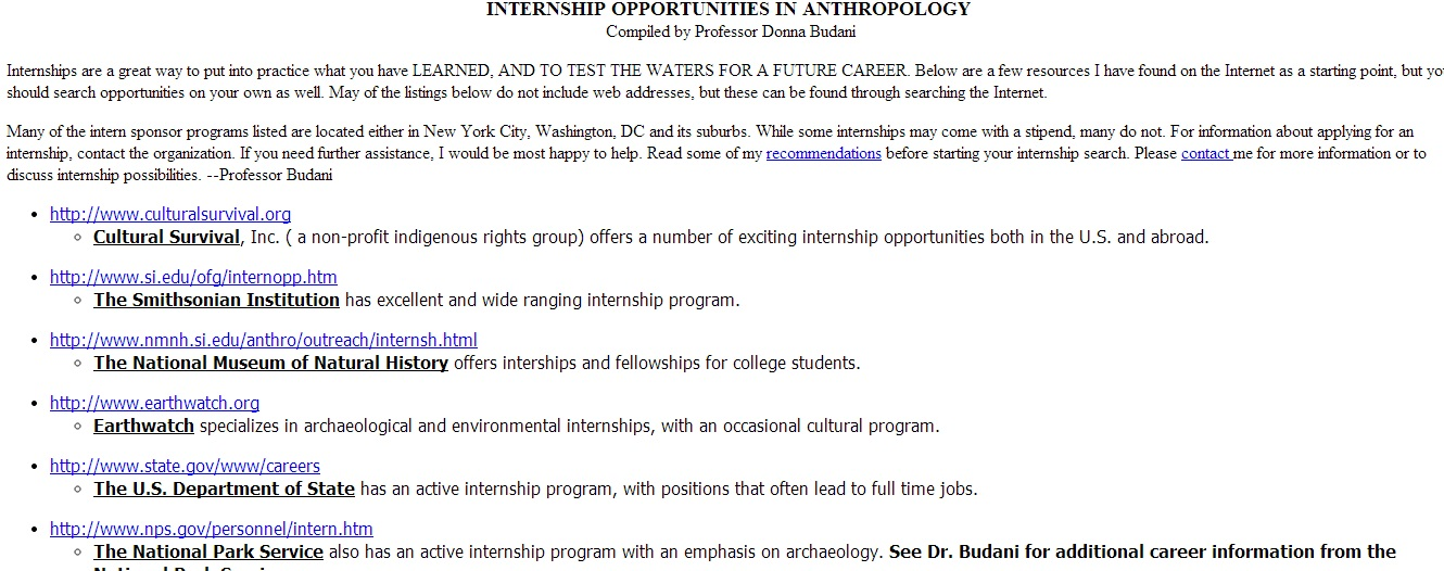 Offer Internships programs