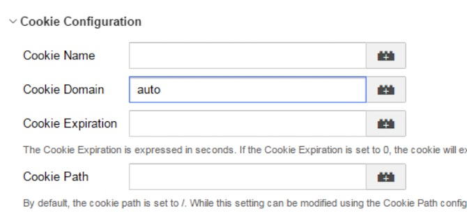 google cookie configuration