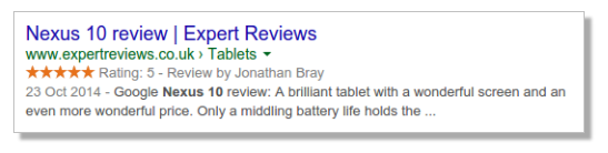 google individual reviews