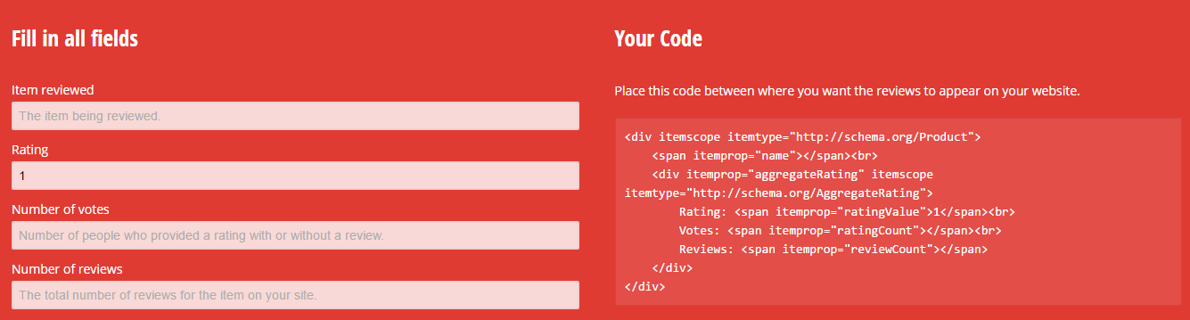 Web Code Tools form