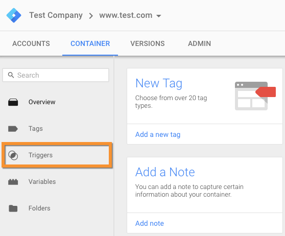 google tag manager triggers