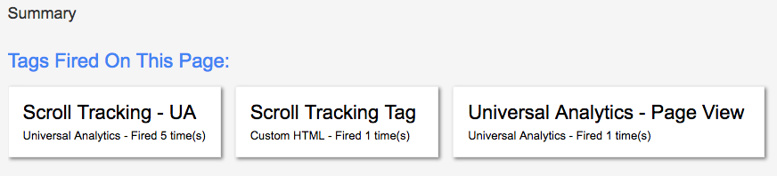 google tag manager summary