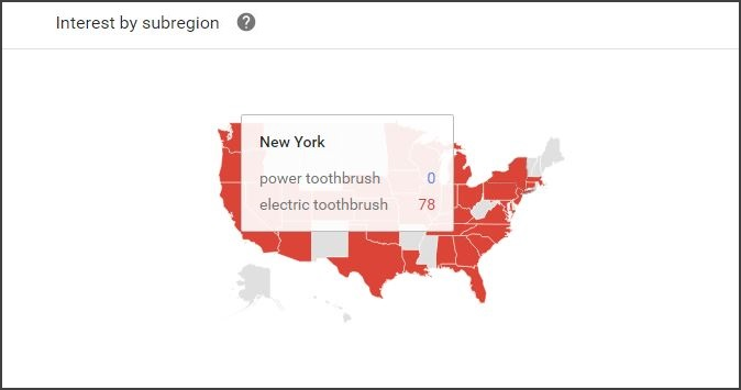 Google Trends - Regional Interest
