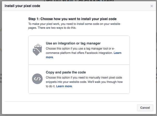 install facebook pixel code