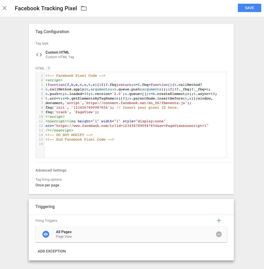 fracebook tracking pixel