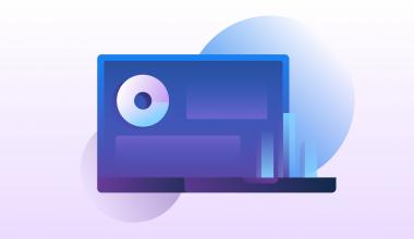 Purple computer screen