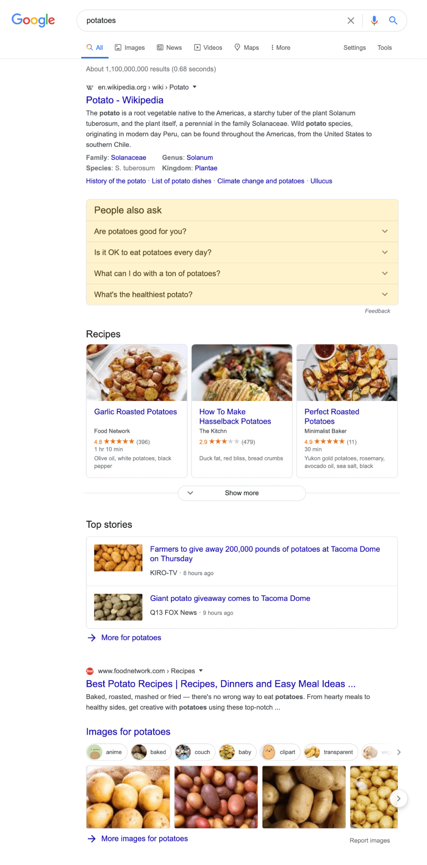Screenshot with Google SERP highlighting People Also Ask results.