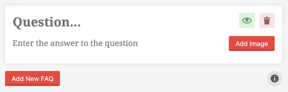Rank Math screenshot new FAQ dialog in WordPress.