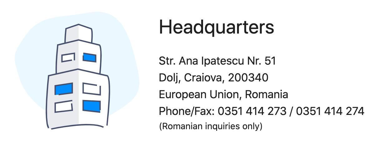 Screenshot of business address added using structured data.