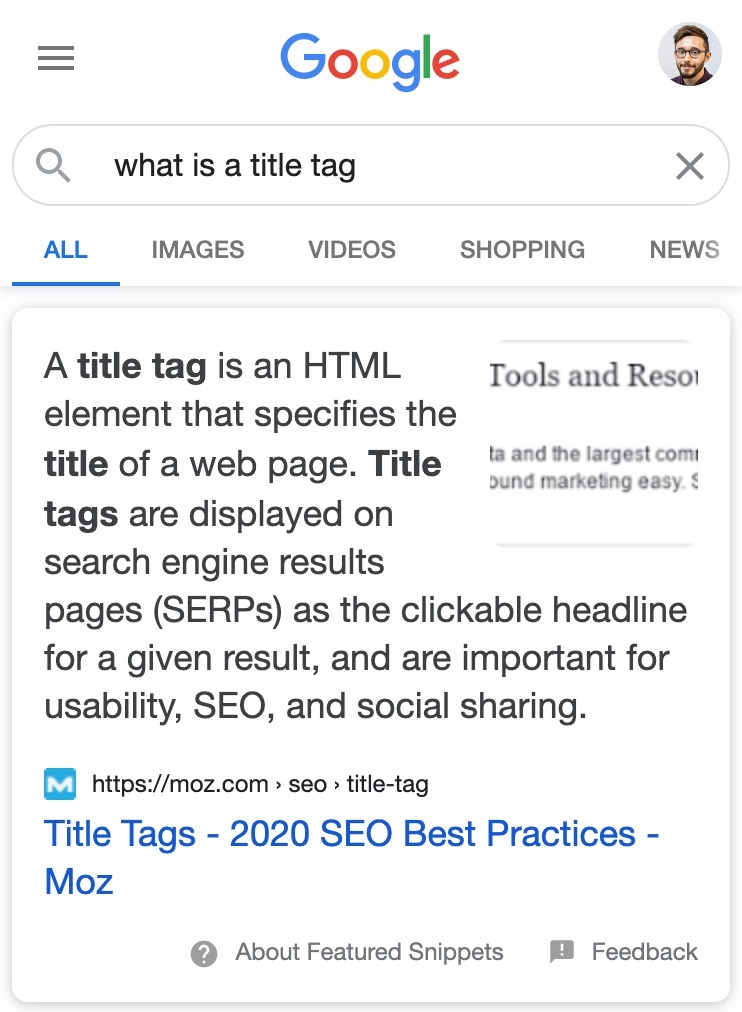 List/paragraph and image combo featured snippet example