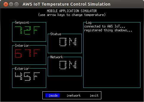 temperature-control.js, 'mobile application' mode