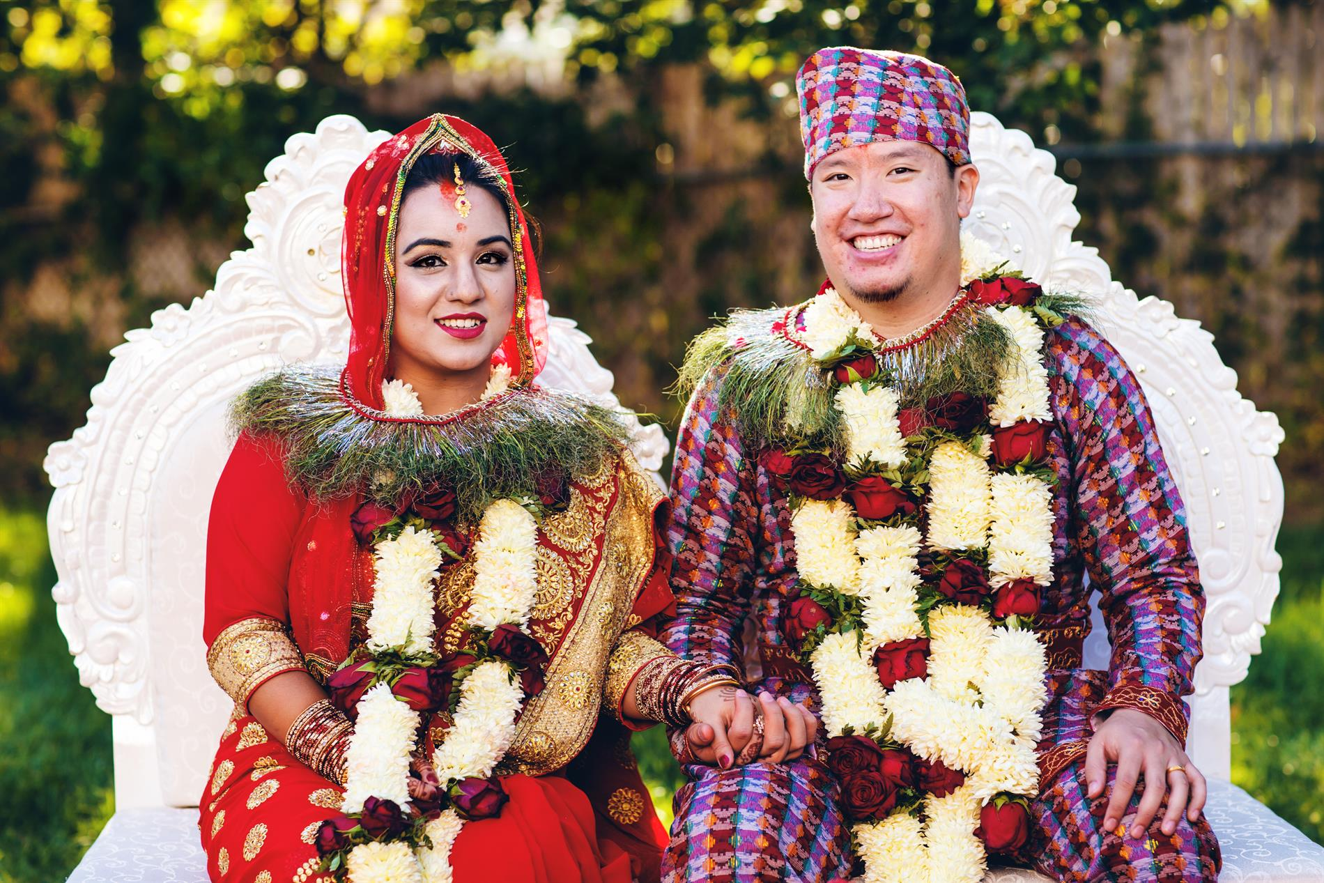 Kamana and Rob Nepali Ceremony