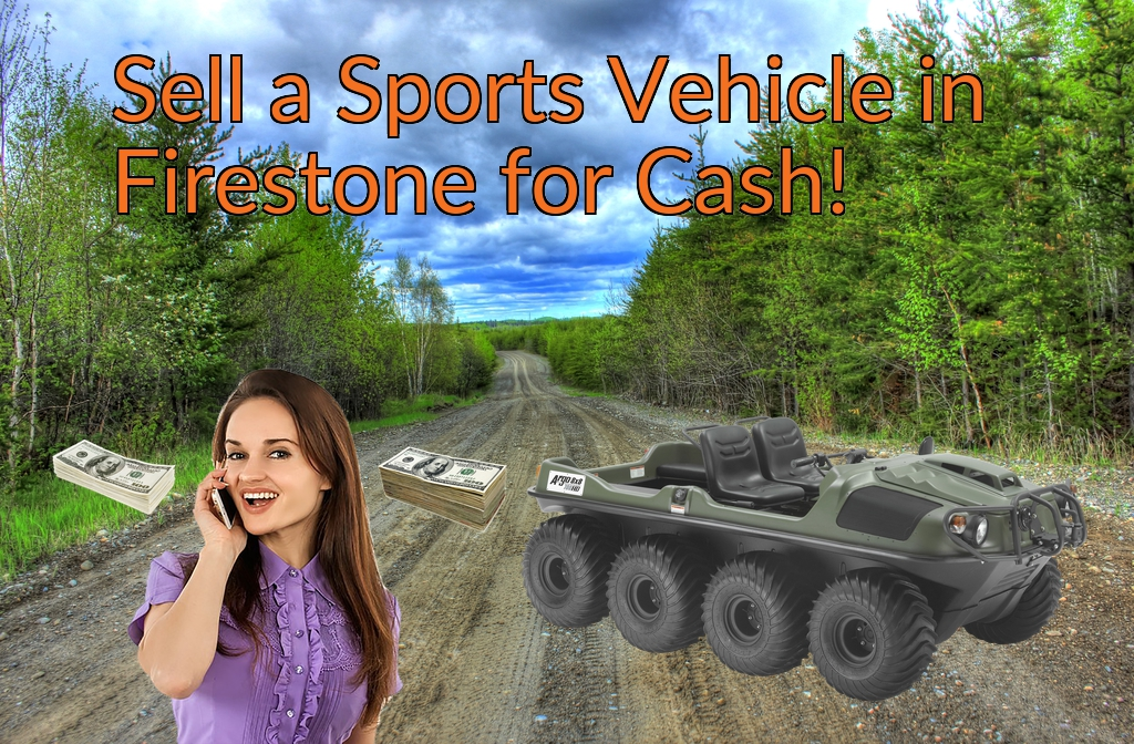 Sell a ATV, Dirt Bike, UTV, Snowmobile, Golf Cart, or CCV in Firestone for Cash Fast!