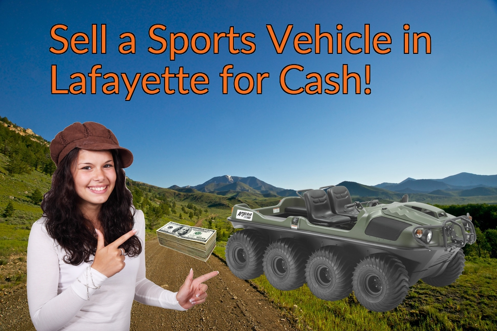 Sell a ATV, Dirt Bike, UTV, Snowmobile, Golf Cart, or CCV in Lafayette for Cash Fast!