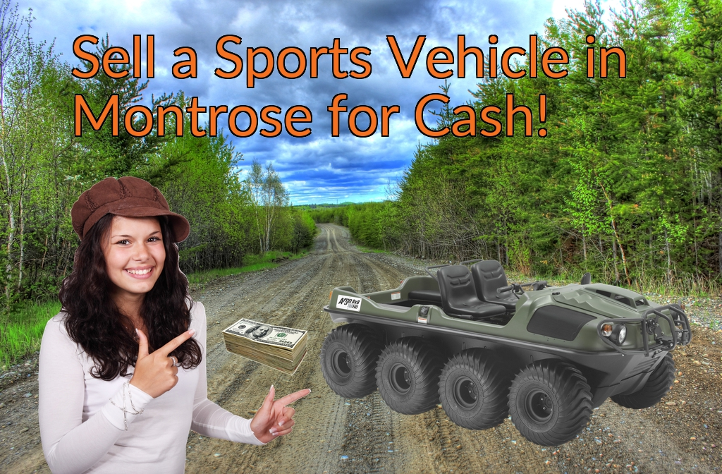Sell a ATV, Dirt Bike, UTV, Snowmobile, Golf Cart, or CCV in Montrose for Cash Fast!