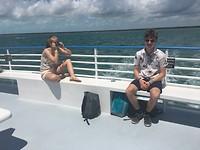 Glass bottom boat tour @ John Pennenkamp Coral Reef Statepark