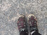 Schoenen na een dag op googlemaps rijden