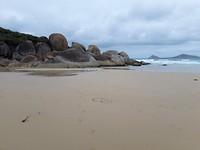 Rotsen op Wisky beach