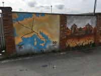 De Via Francigena als muurschildering