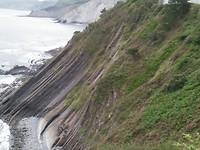 De vertikale aardlagen bij Zumaia