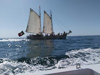 Een traditioneel vissersschip