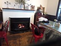 Het café bij de vuurtoren