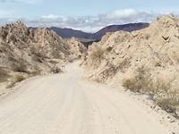 Door de canyon.
