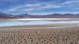 Zoutmeer in de Atacamawoestijn.