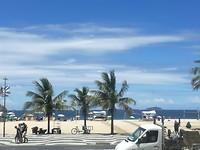 Strand van de Copacabana.