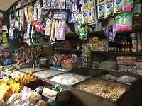 Locale markt, krupuk kraam