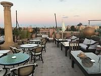 la terrazza boven op het hotel