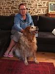 Veejay is de hond van Roger, onze gastheer.