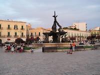 Het plein in Giovinazzo