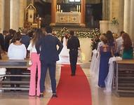 Trouwerij in cattedrale di san Cataldo