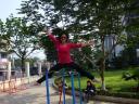 Gymen in het park